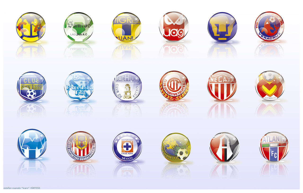 icons mexico soccer teams by icaroGraf 1280x815