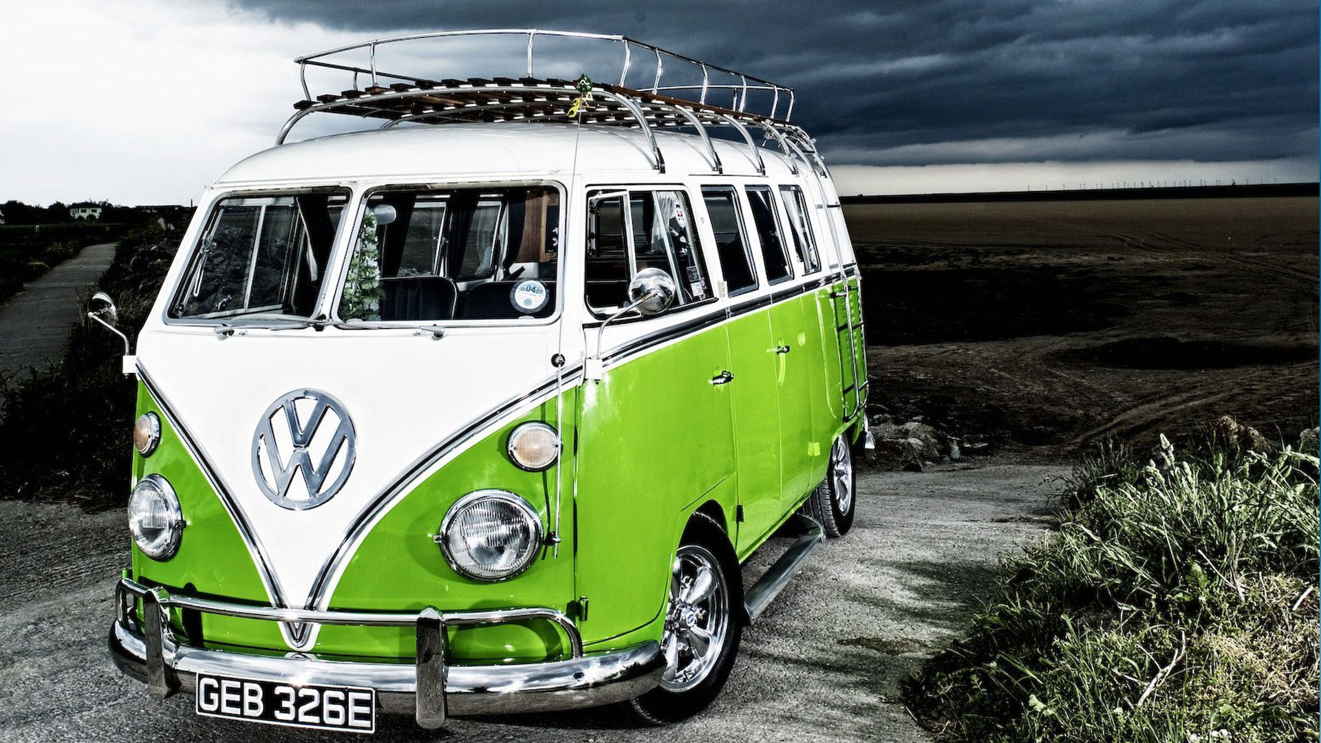 Vintage VW Bus Cool Wallpapers 1920x1080