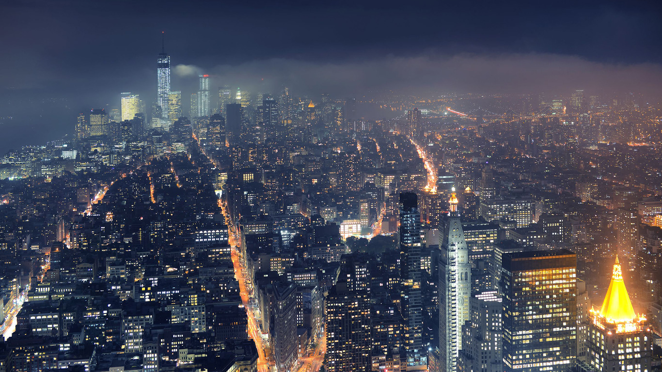 New York at night wallpaper 19182 1366x768