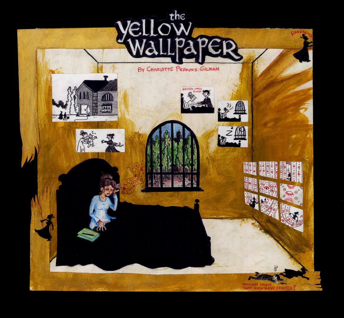 Joe Kuth Design and Illustration The Yellow Wallpaper 1157x1072