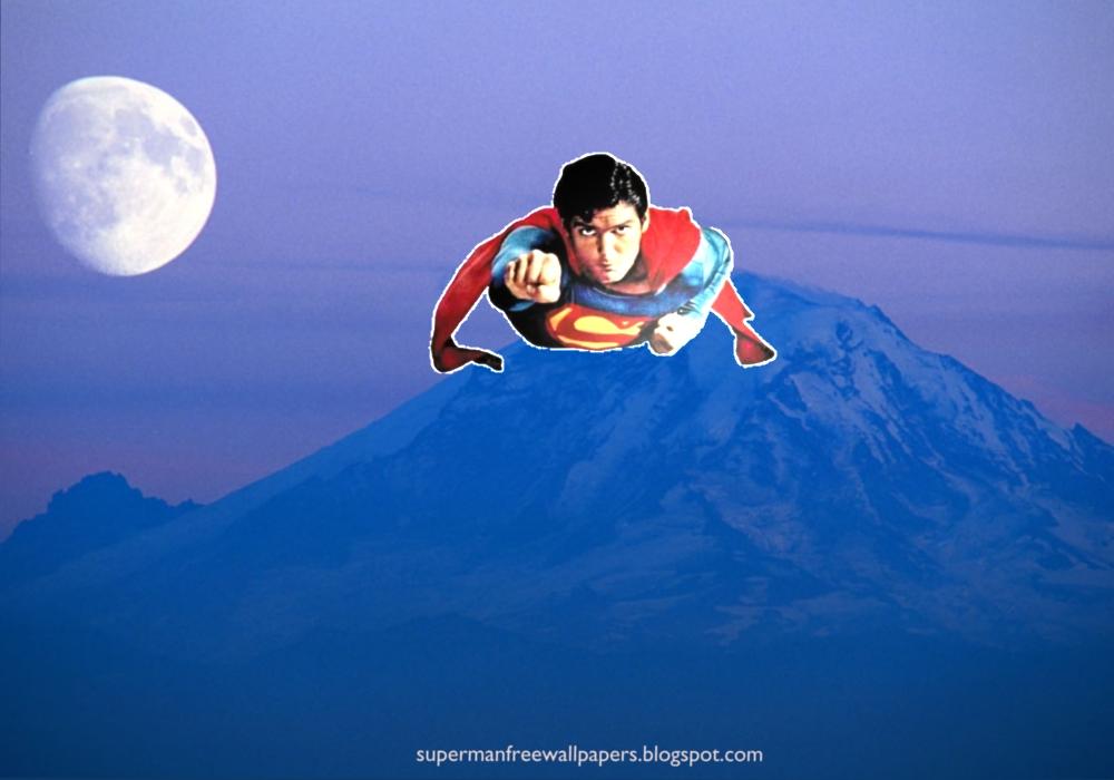 Desktop wallpaper Wallpaper of Superman super sonic speed flying at 1000x700