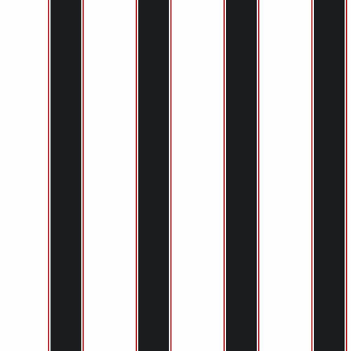 Cool Kids White and Black Wide Stripe and Pinstripe Wallpaper 500x500