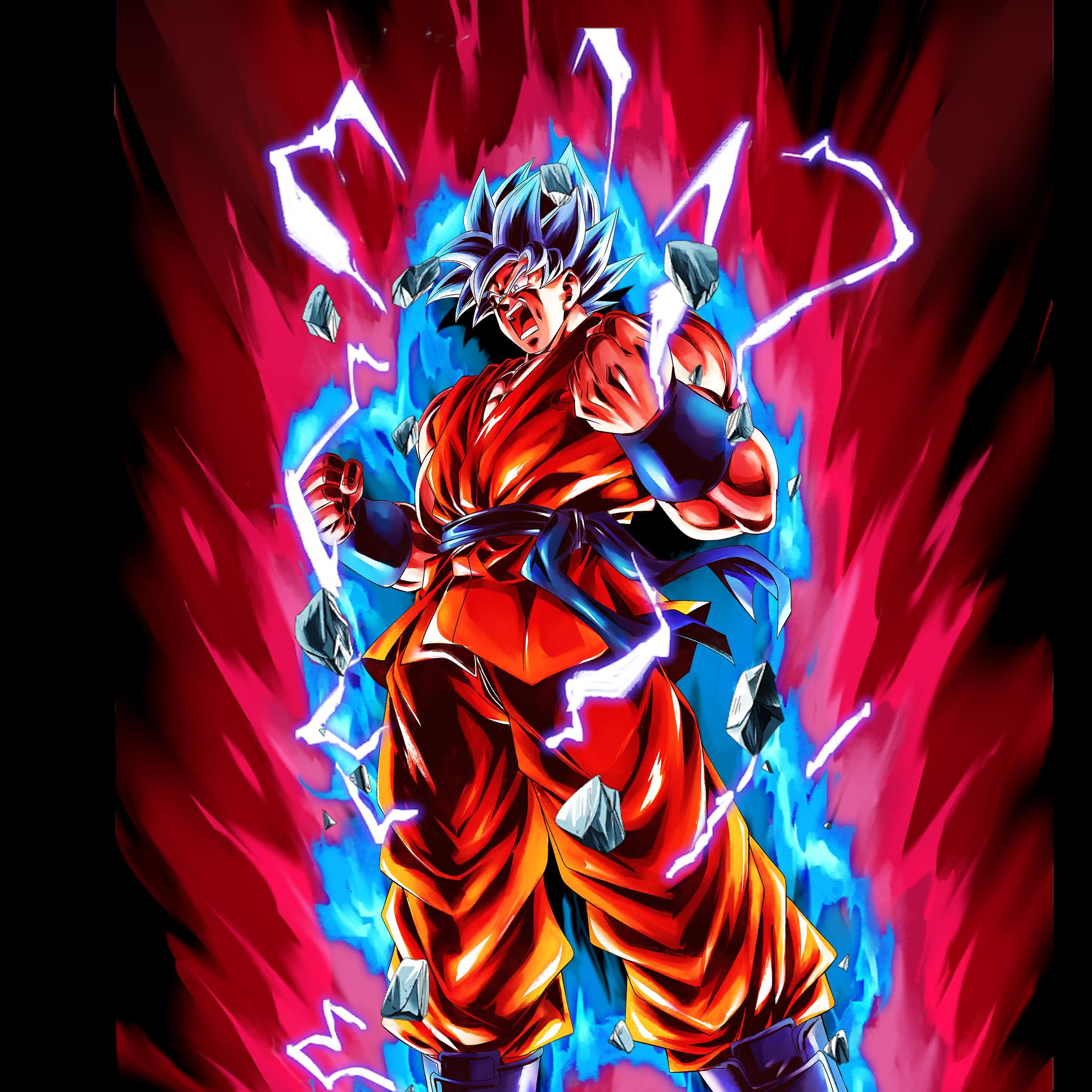 Wallpaper Kaioken Goku Ssgss Kaioken X20 Goku Ssj Blue 2048x2048