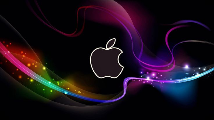 HD Cool Apple Logo With Abstract Background Wallpapers 736x414