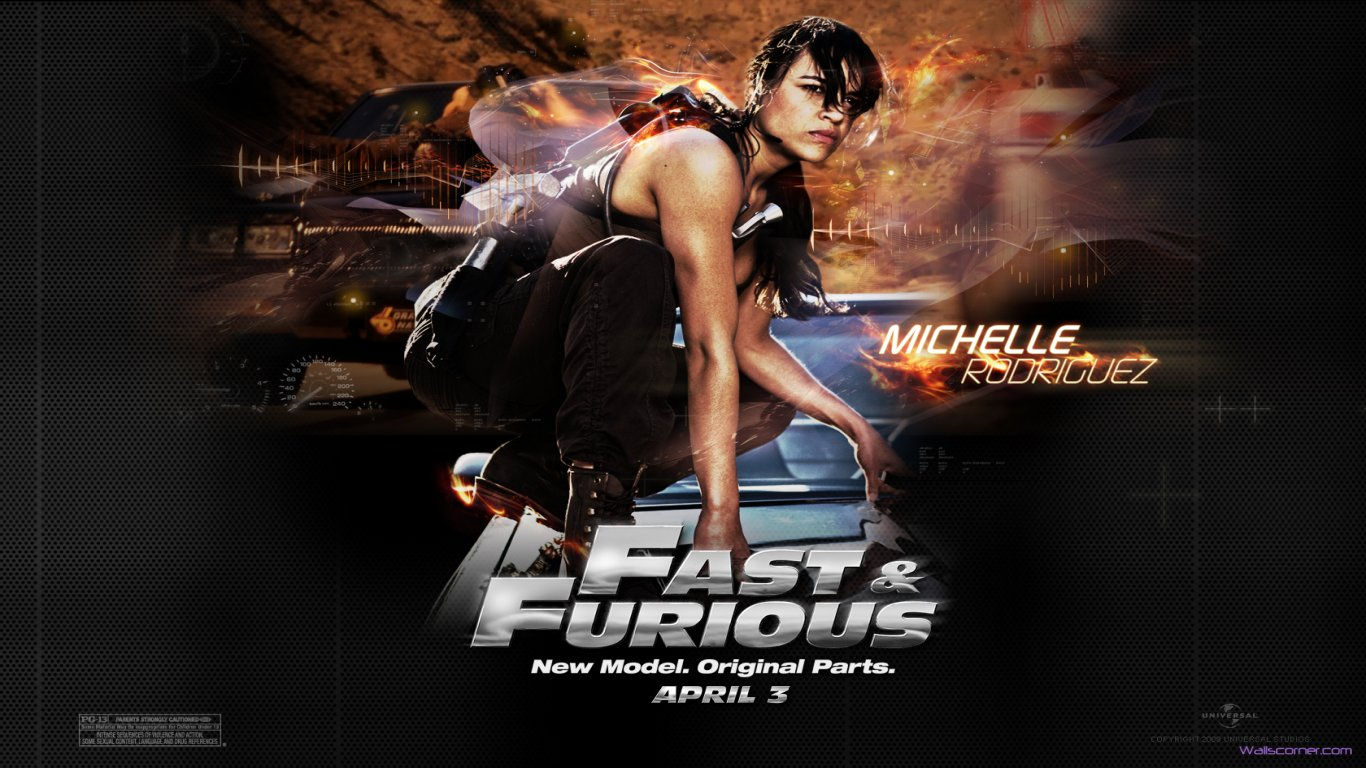Download Fast And Furious 7 Michelle Rodriguez HD Wallpaper Search 1366x768