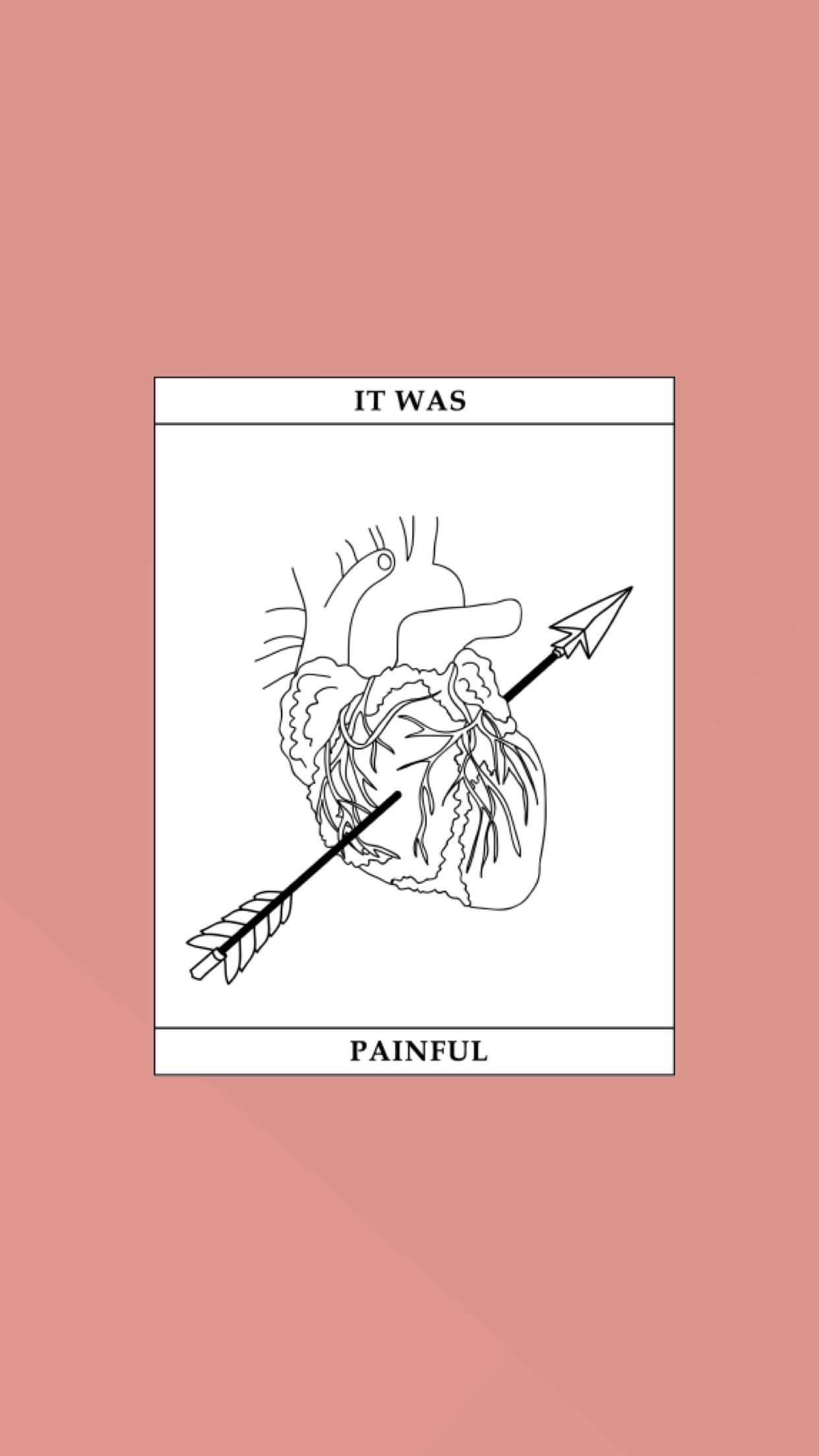 Painful wallpaper made by Laurette instagramlaurette evonen 1242x2208