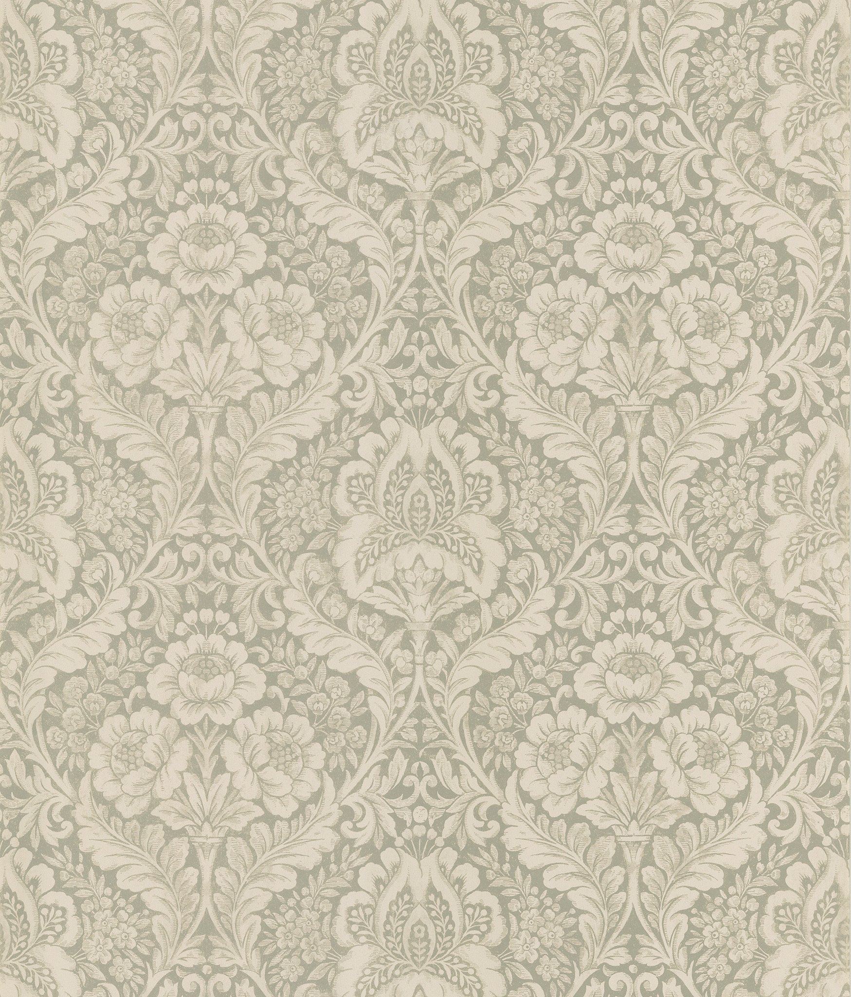 Medici Damask Wallpaper in Beige by Brewster Home Fashions BURKE 1749x2048
