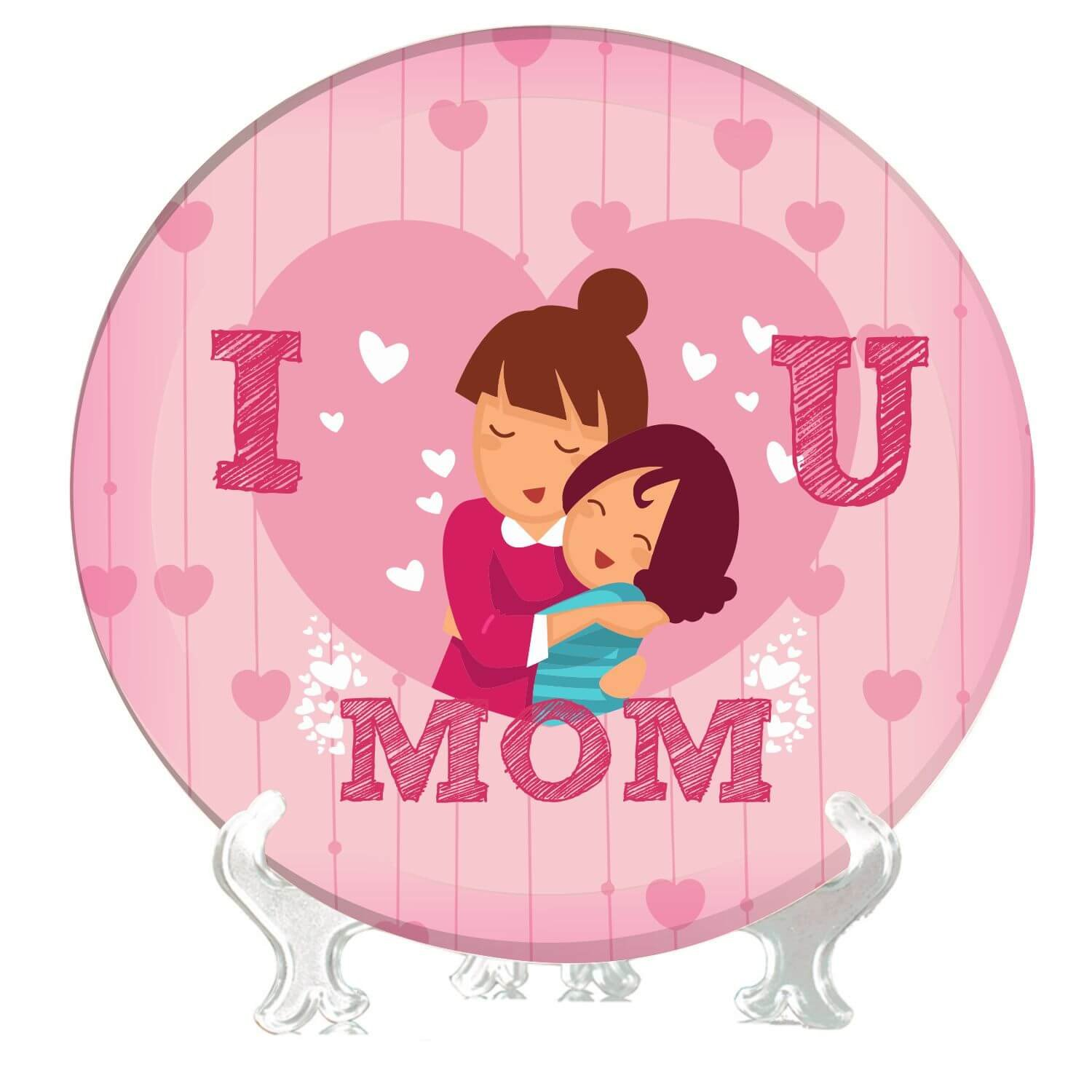 Buy Yaya Cafe 8 Inches I Love You Mom Decorative Plate from 1500x1500