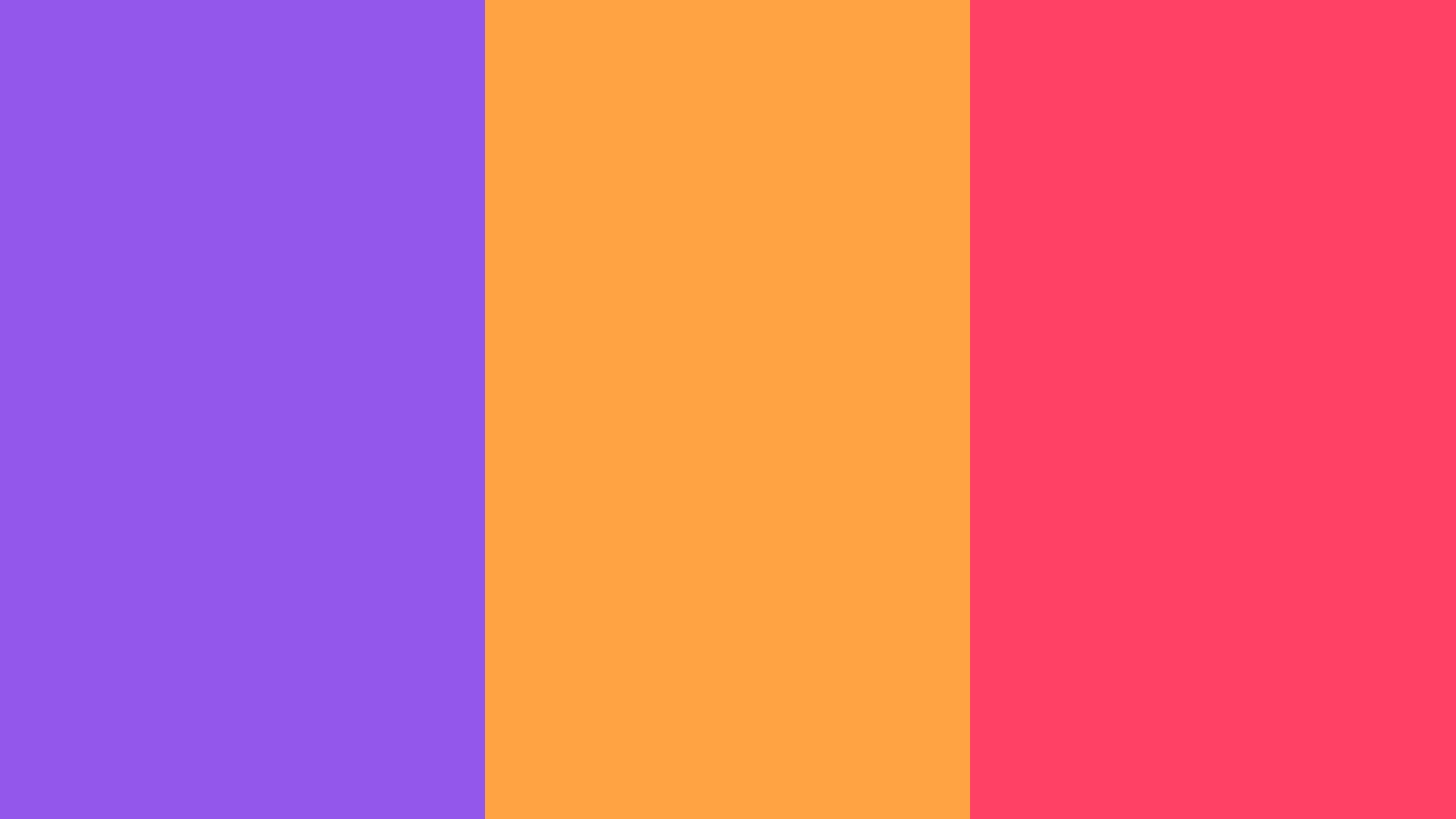 Purple Neon Carrot and Neon Fuchsia solid three color background 1600x900