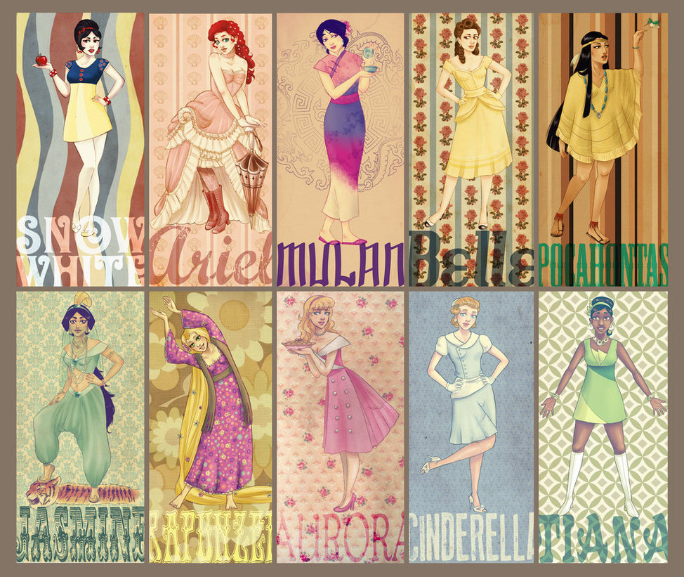 Disney Princess Project   RetroVintage by Vimeddiee 974x821