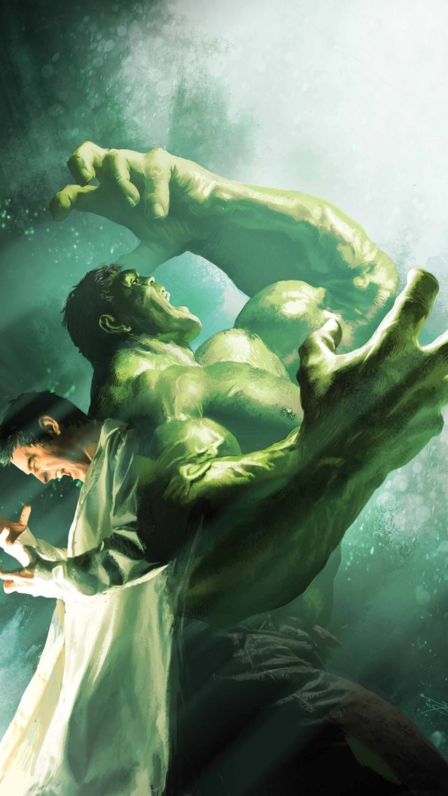Bruce Banner turning into the Hulk Mobile Wallpaper 5433 640x1136