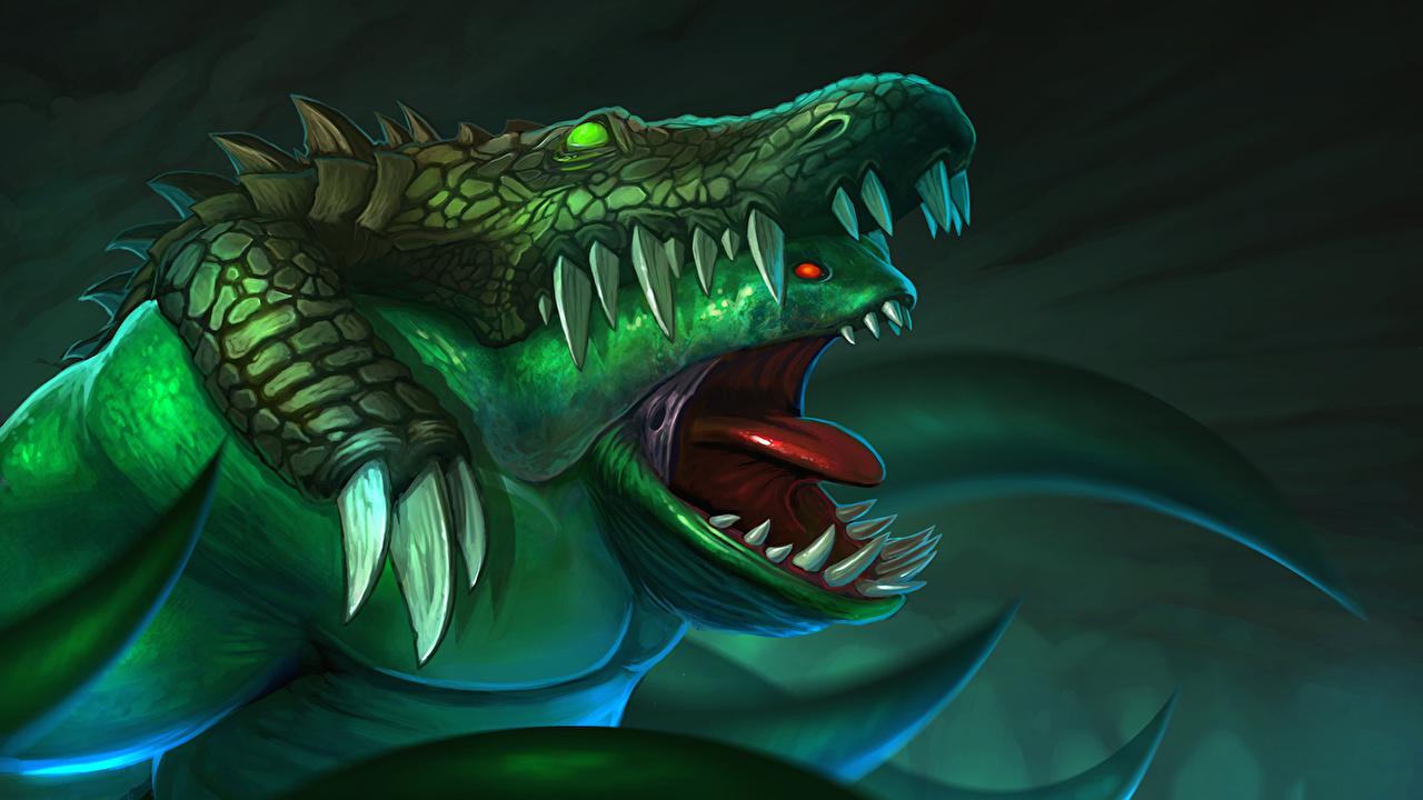 Photos DOTA 2 Tidehunter monster Fantasy vdeo game 1280x720