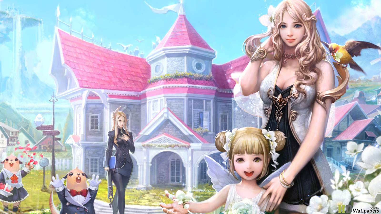 Aion Game Anime hd wallpapers 2013 HD Wallpaper 1600x900
