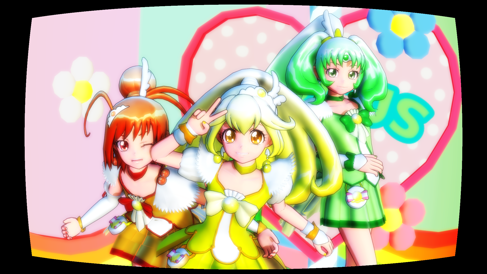MMD] Glitter Force Umwhat is her name by Lucky3Seven on 2048x1152