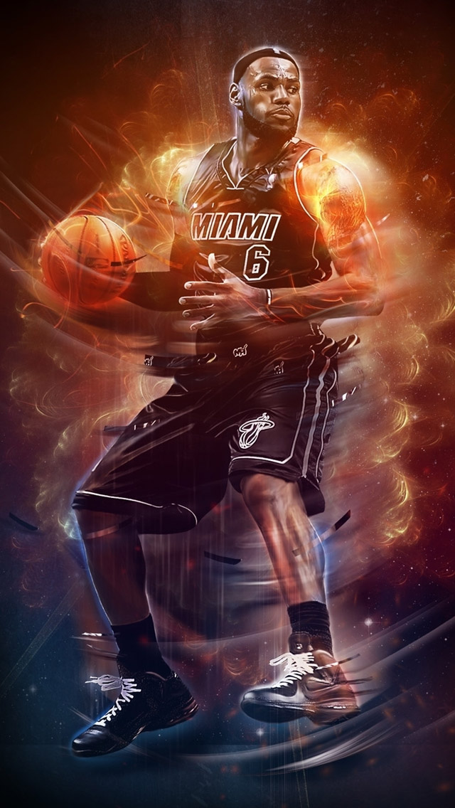 Lebron James Nba Cool Wallpaper For Iphone 5 Download Pictures 640x1136