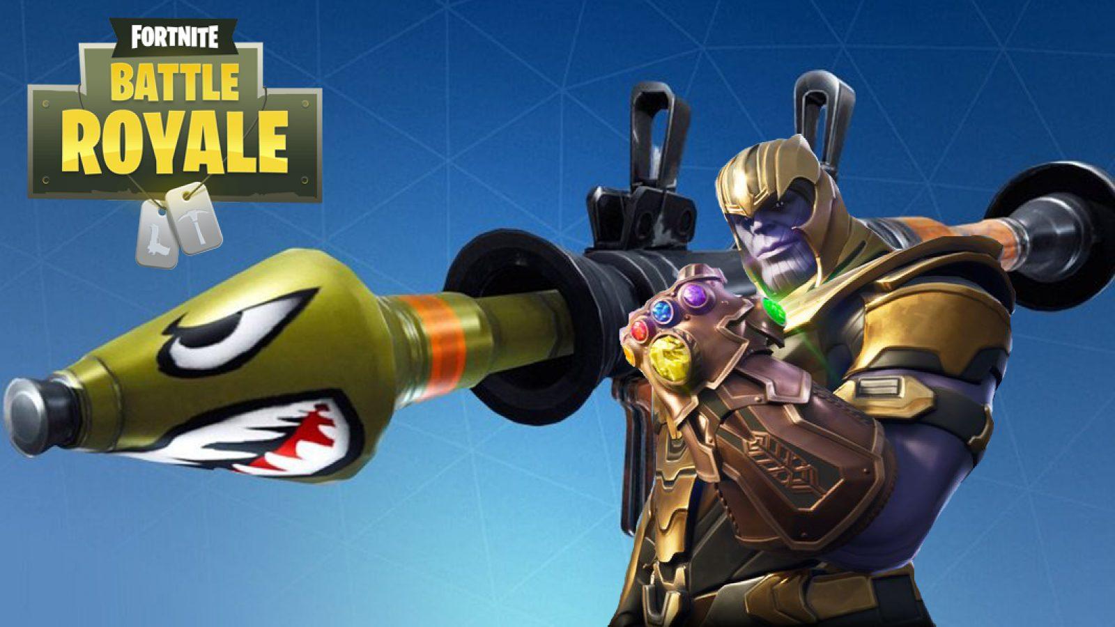 Thanos Accidentally Rocket Rides During Intense Fortnite Battle 1600x900