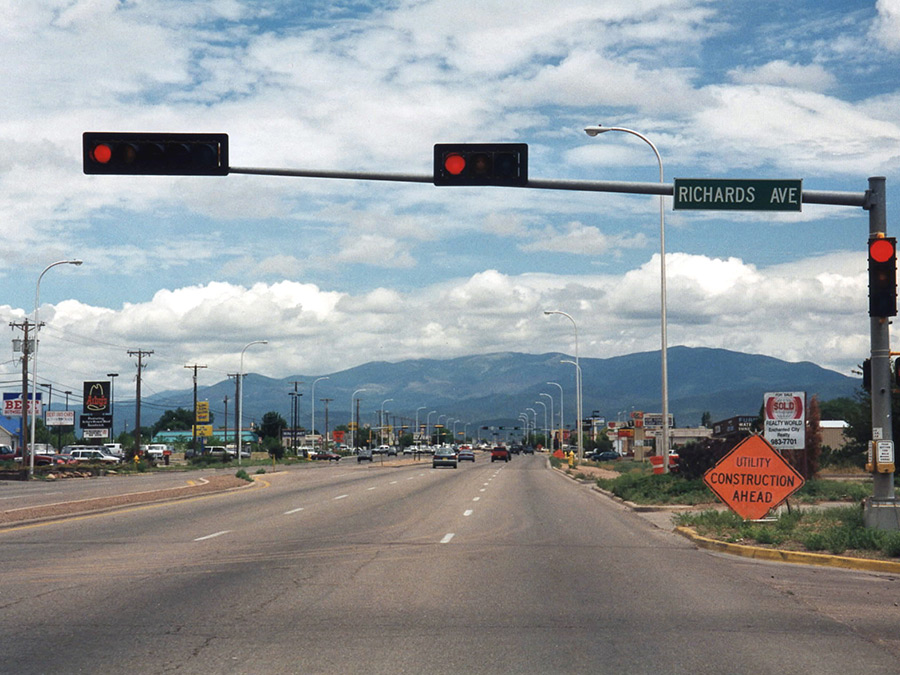 Richards Avenue with the Sangre de Cristo Mountains in the background 900x675