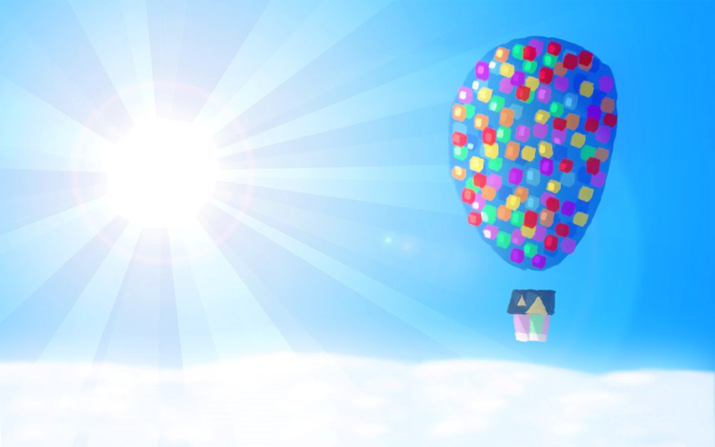 Up Wallpaper HD - Wall... Up Balloons Wallpaper Hd