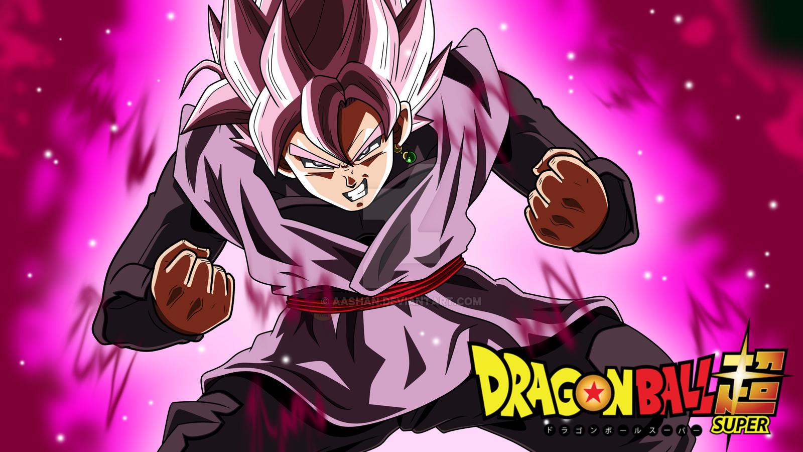Free Download Goku Black Super Saiyan Rose Powering Up By Aashan
