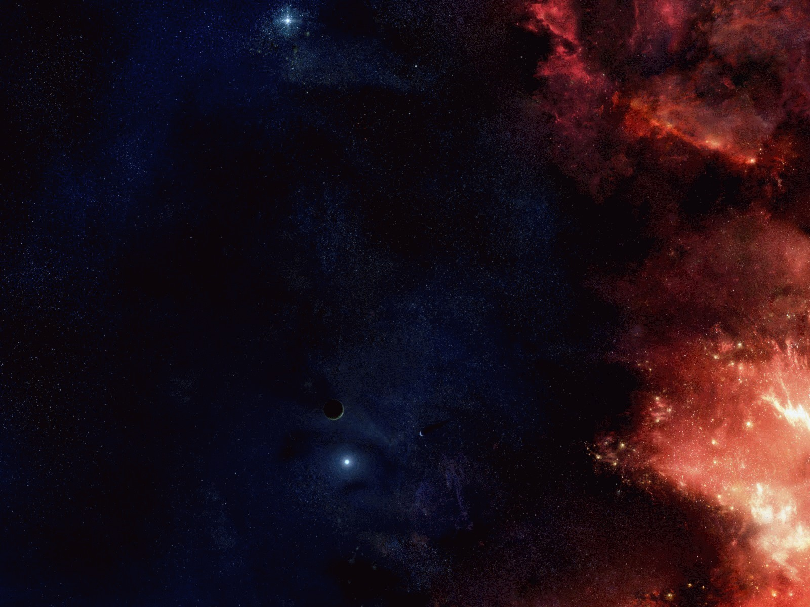 Wallpaper glowing clouds and dark space desktop 1600x1200