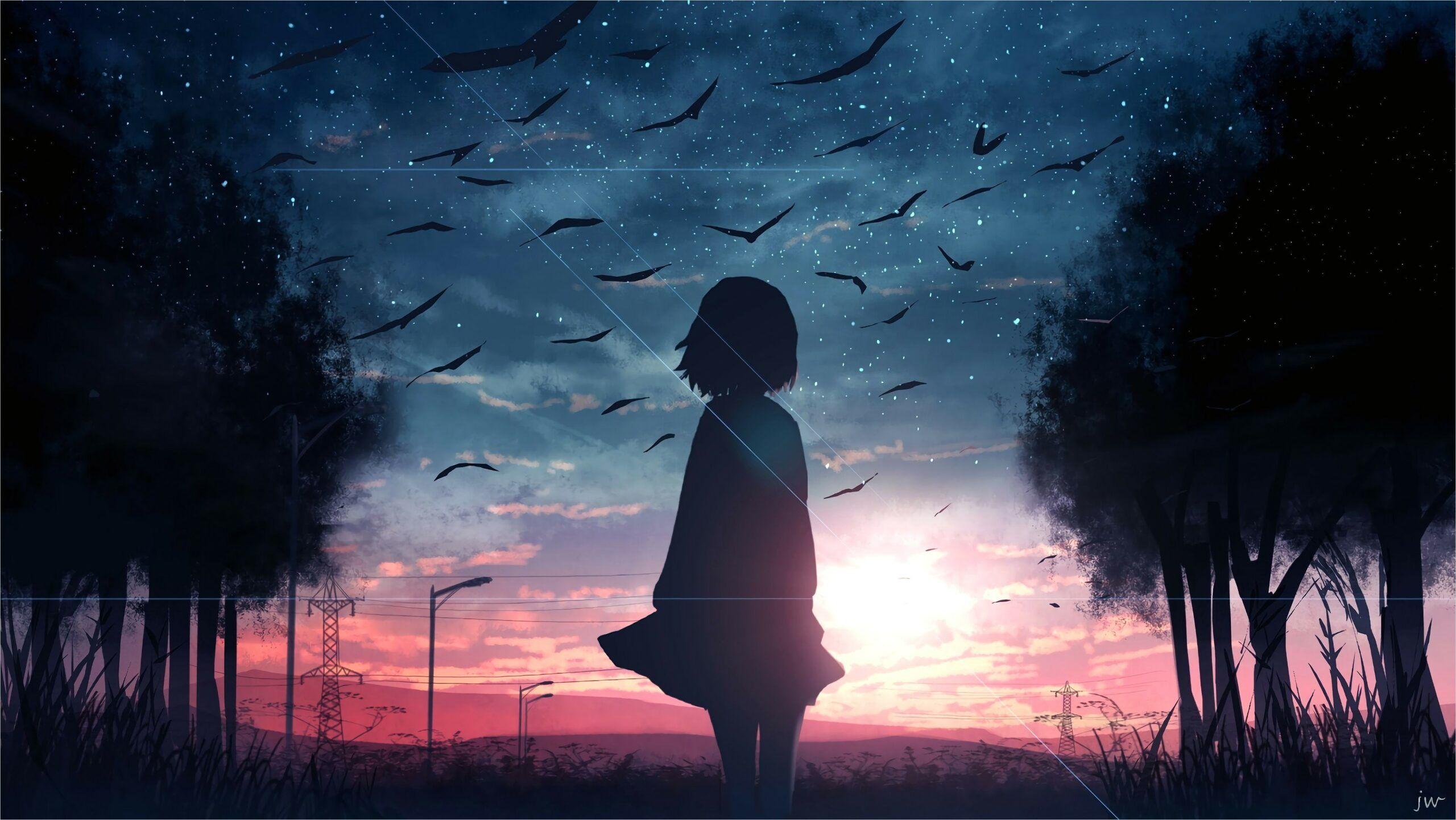 4k Anime Landscape Wallpaper di 2020 Pemandangan anime 2560x1441