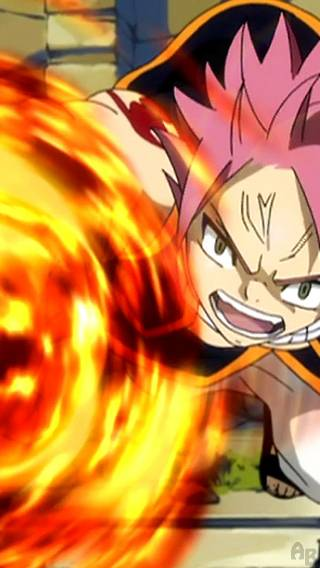 Natsu From The Anime Fairy Tail iPhone Wallpaper 320x568