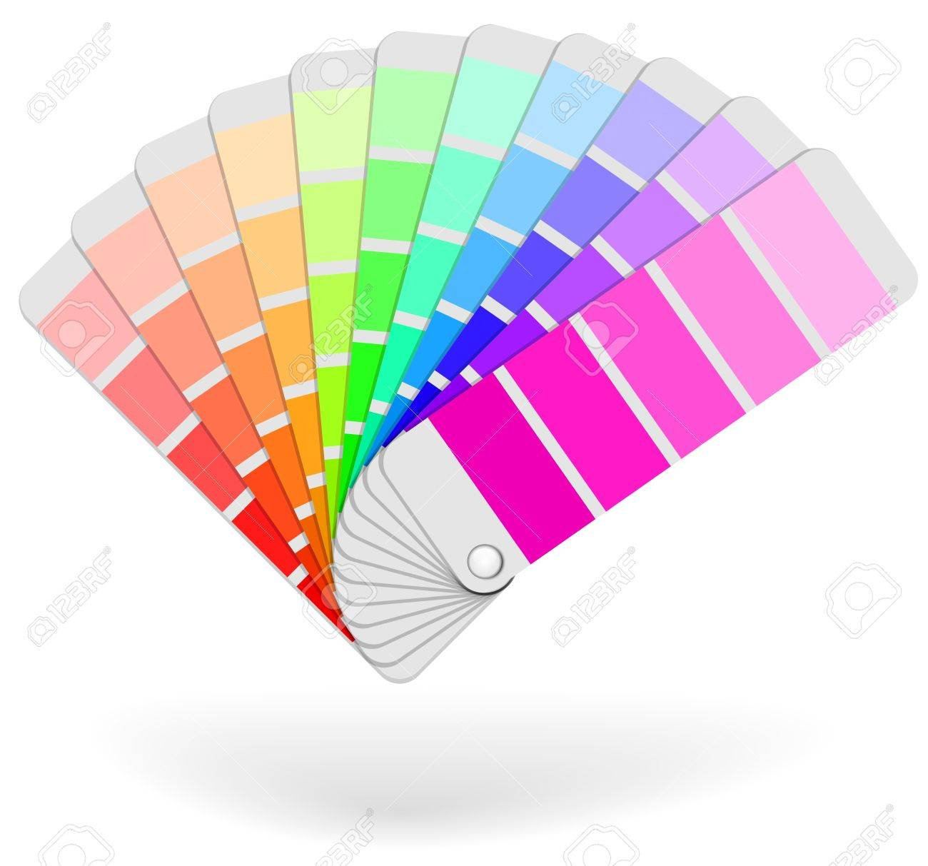 Color Sample Catalogue Sheaf Vector Icon Isolated On White 1300x1213