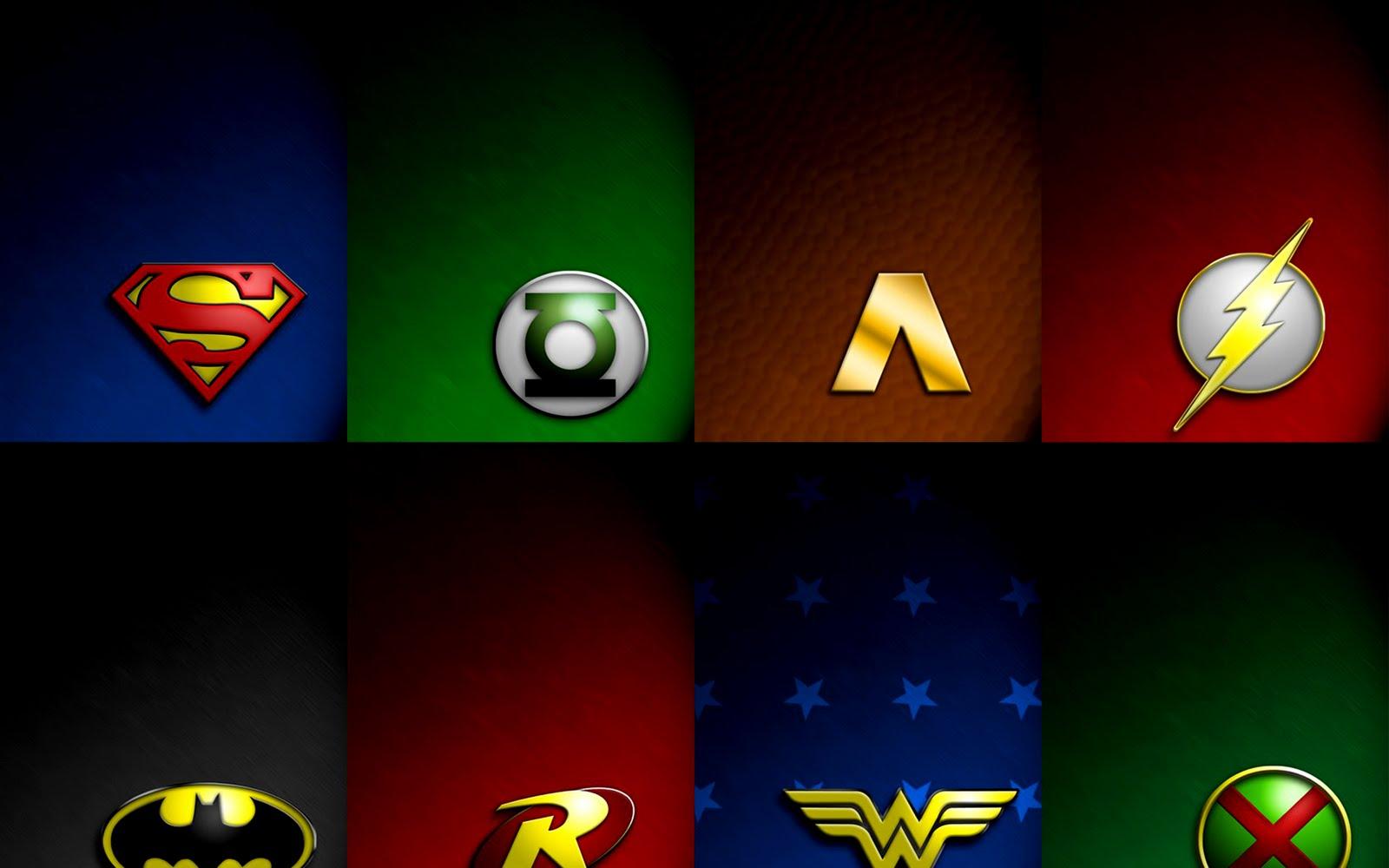 Superheroes Logos Wallpaper Wallpapersafari