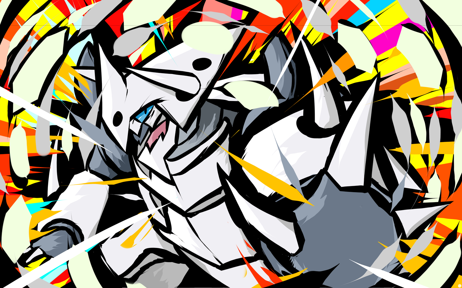 Mega Aggron Metal Burst by ishmam 1600x1000