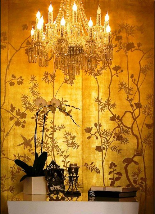 CHINESE NEW YEAR hand painted asian inspired designer wallpaper 499x690