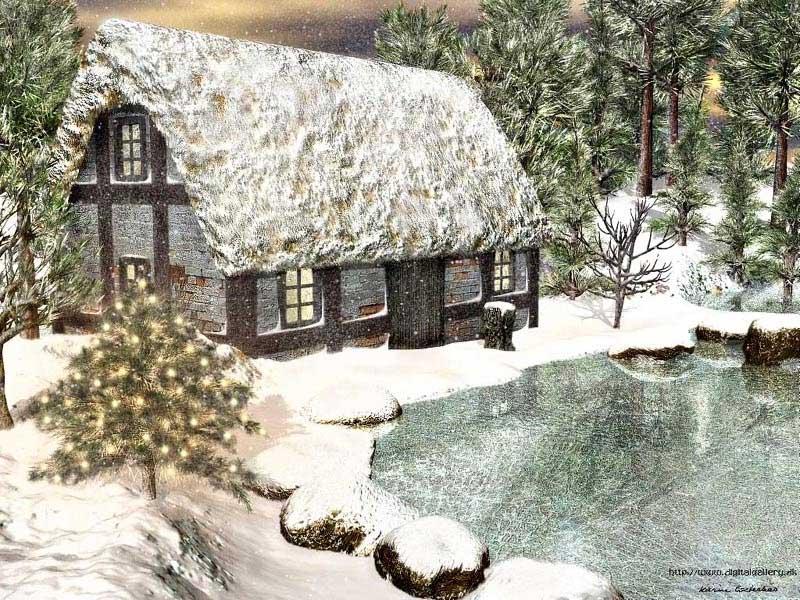 Christmas Snow Scenes Christmas Snow Scene 800x600