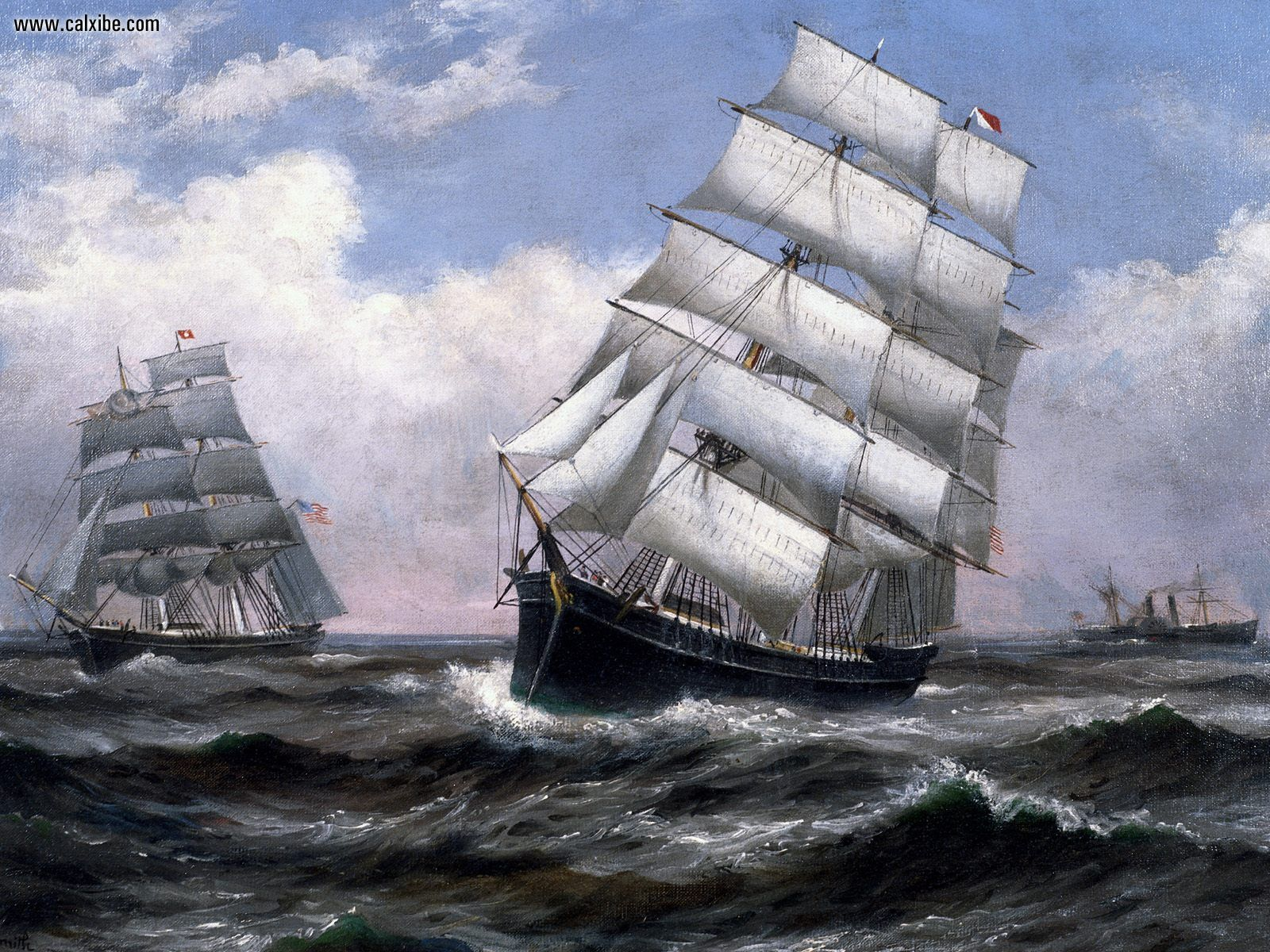 Back Gallery For sailing ship tall wallpaper 1600x1200