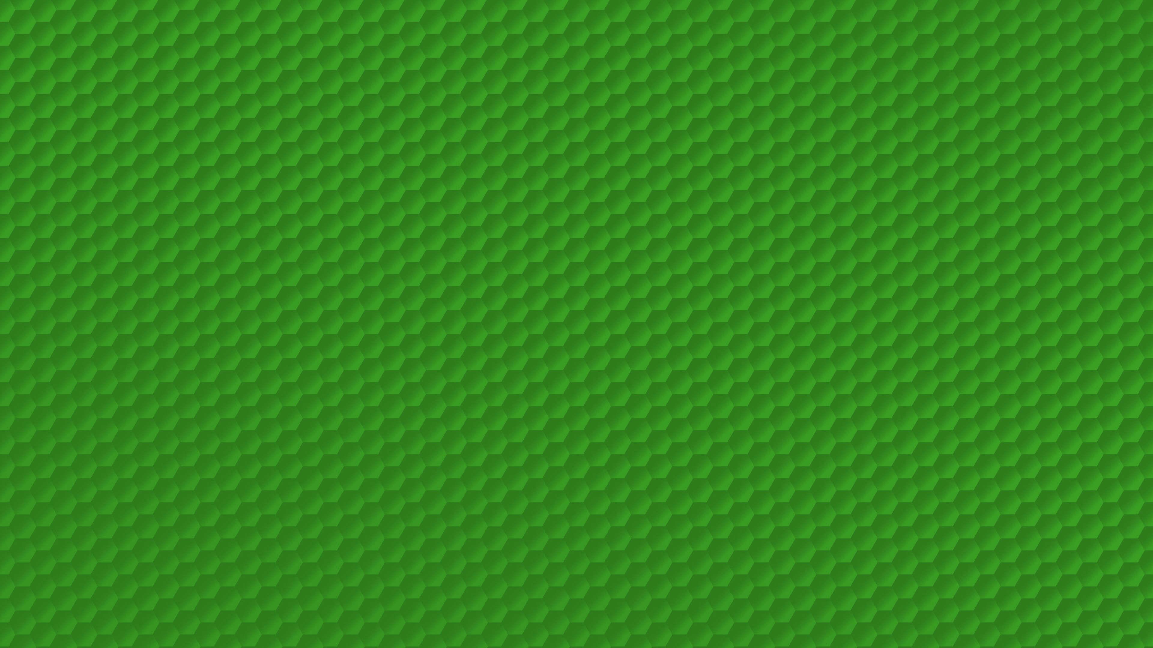 Green Honeycomb Pattern 4K Wallpapers 3840x2160