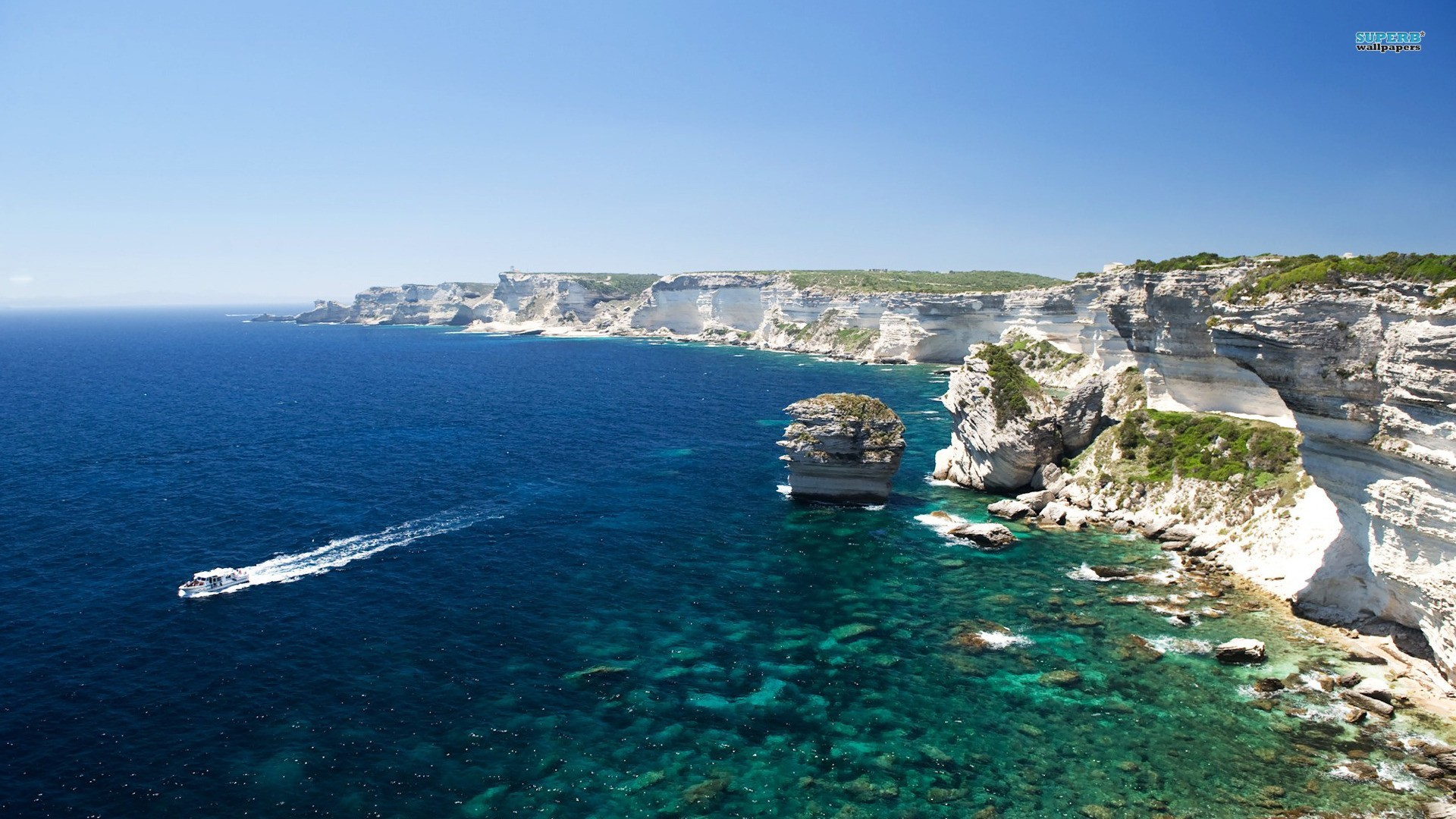 Sea Summerwater Apple Backgrounds Landscape CorsicaHD Beach 1920x1080