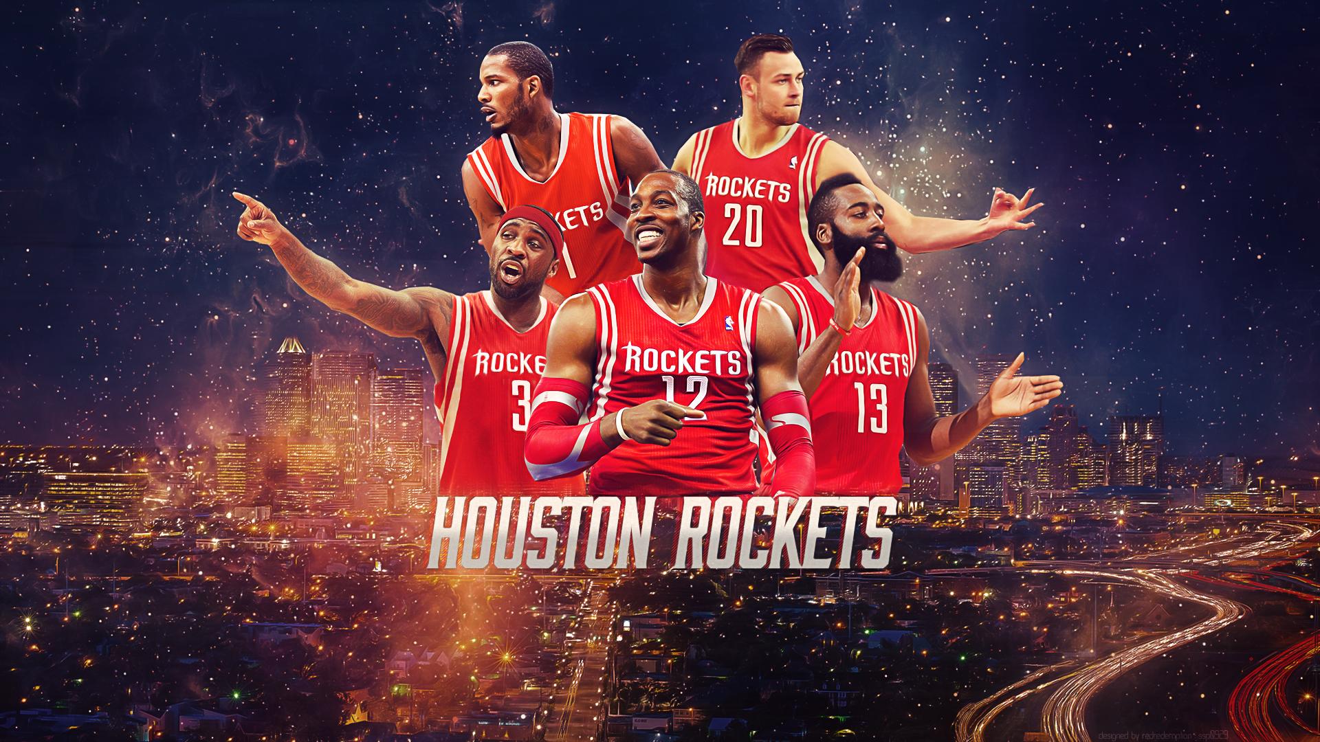 Wallpaper] Houston Rockets 2015 2016 Starting Lineup WP   ClutchFans 1920x1080