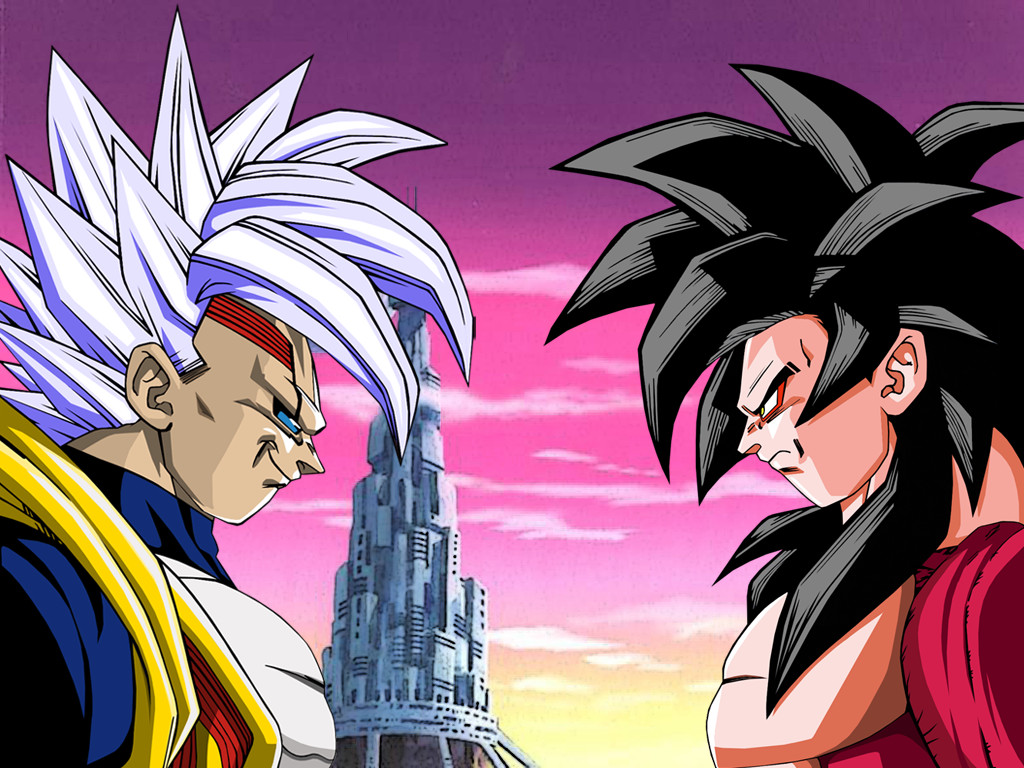 Wallpaper Baby Vegeta vs Goku Ssj4 by Dony910 1024x768