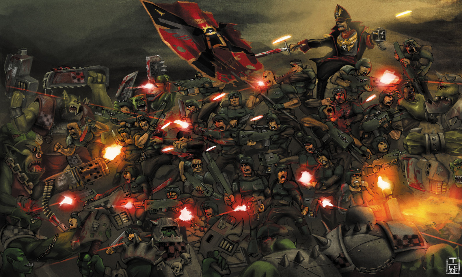 Warhammer 40k Imperial Guard Wallpaper Wallpapersafari