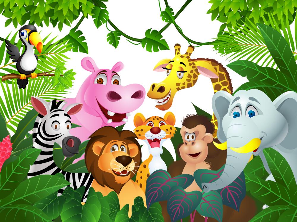 Jungle Animals Wallpaper Wallpapersafari