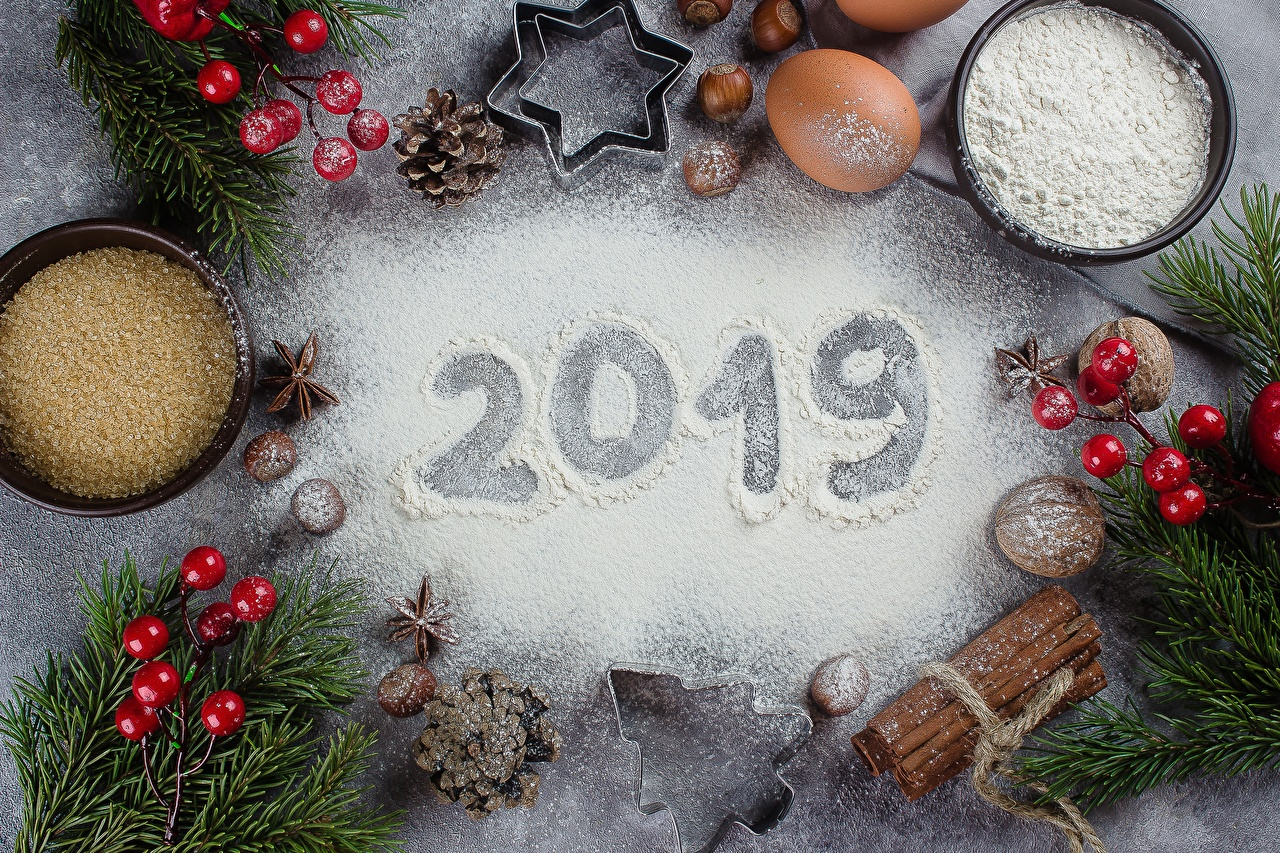 Wallpaper 2019 Christmas Flour 1280x853