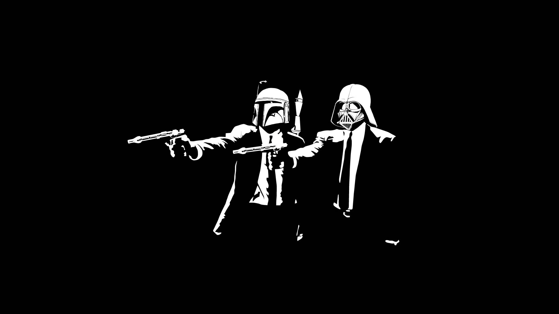 Free Download Star Wars Pulp Fiction Boba Fett Darth Vader Wallpaper Bw Black White 1920x1080 For Your Desktop Mobile Tablet Explore 44 Star Wars Pulp Fiction Wallpaper Funny Star