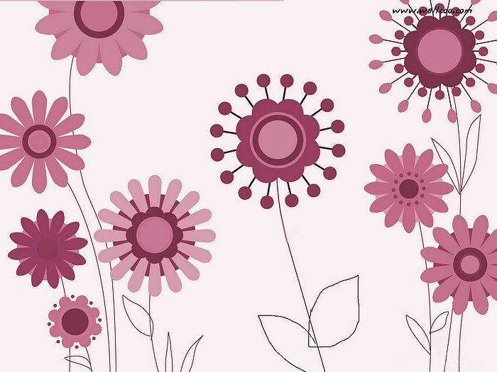 Floral Pattern Design and Floral Graphics   Fun Flowers Pattern Cute 700x525