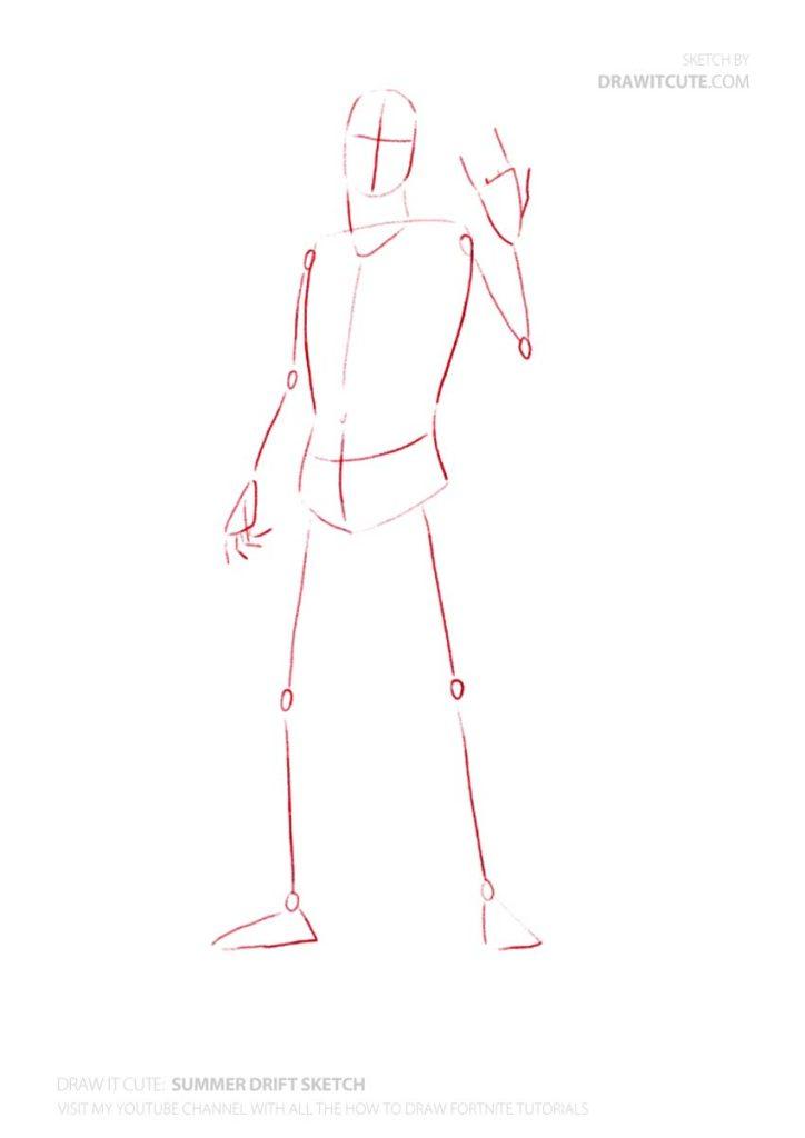 How to draw Summer Drift Fortnite season 9   Draw it cute 724x1024