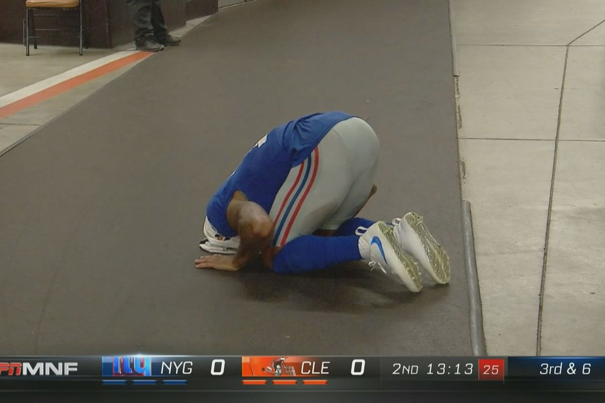 Odell Beckham Jr suffered an ankle injury after taking a nasty 1200x800