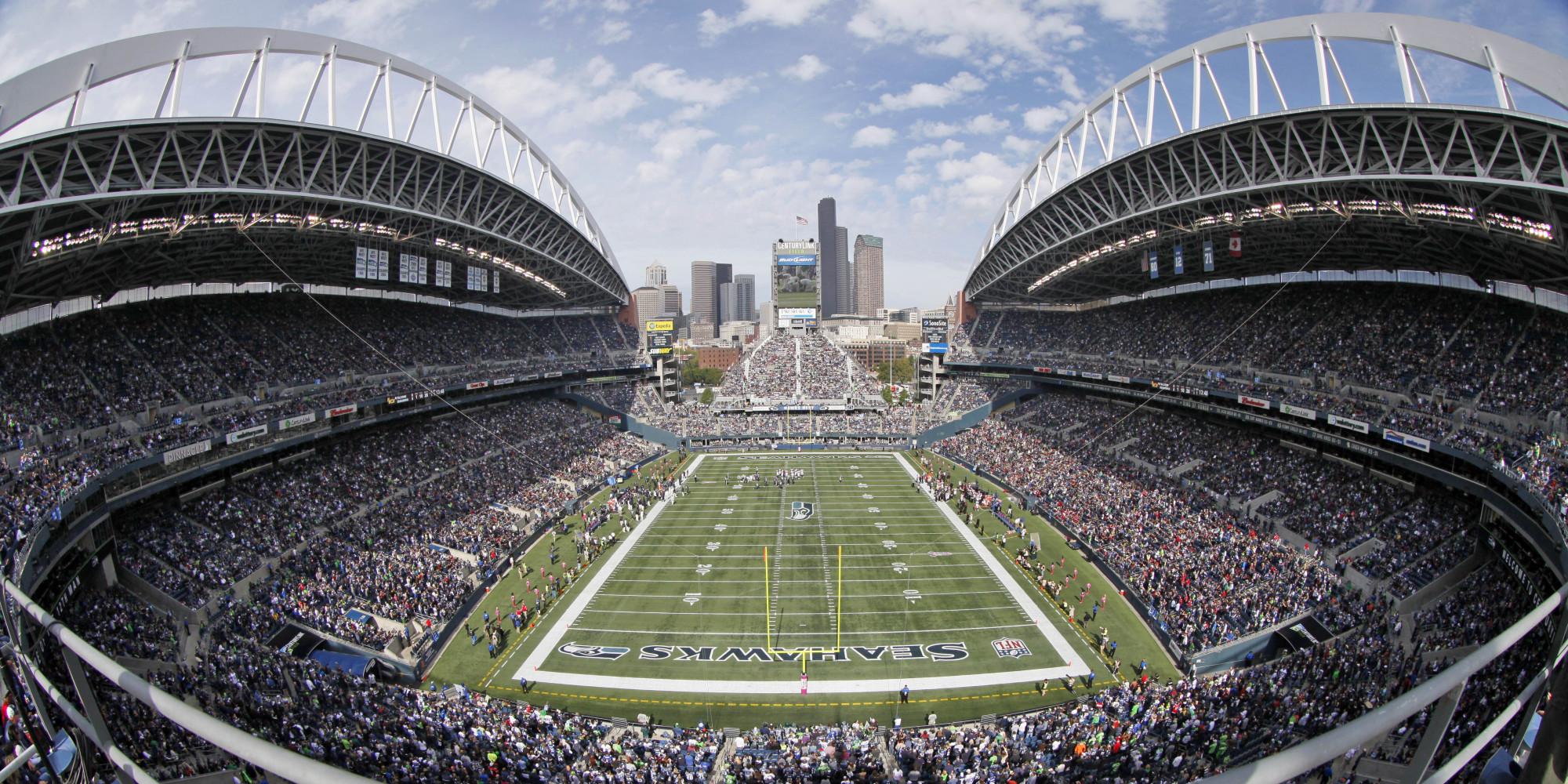 Nfl Football Field Wallpaper Seattle seahawks nfl football 2000x1000