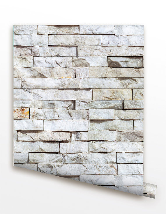 Removable Peel and Stick Fabric Wallpaper   Seamless Brick Wall paper 570x732