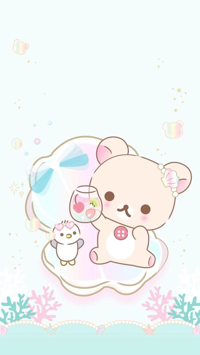 Kawaii Rilakkuma art Cute panda wallpaper Cute cartoon 700x1244