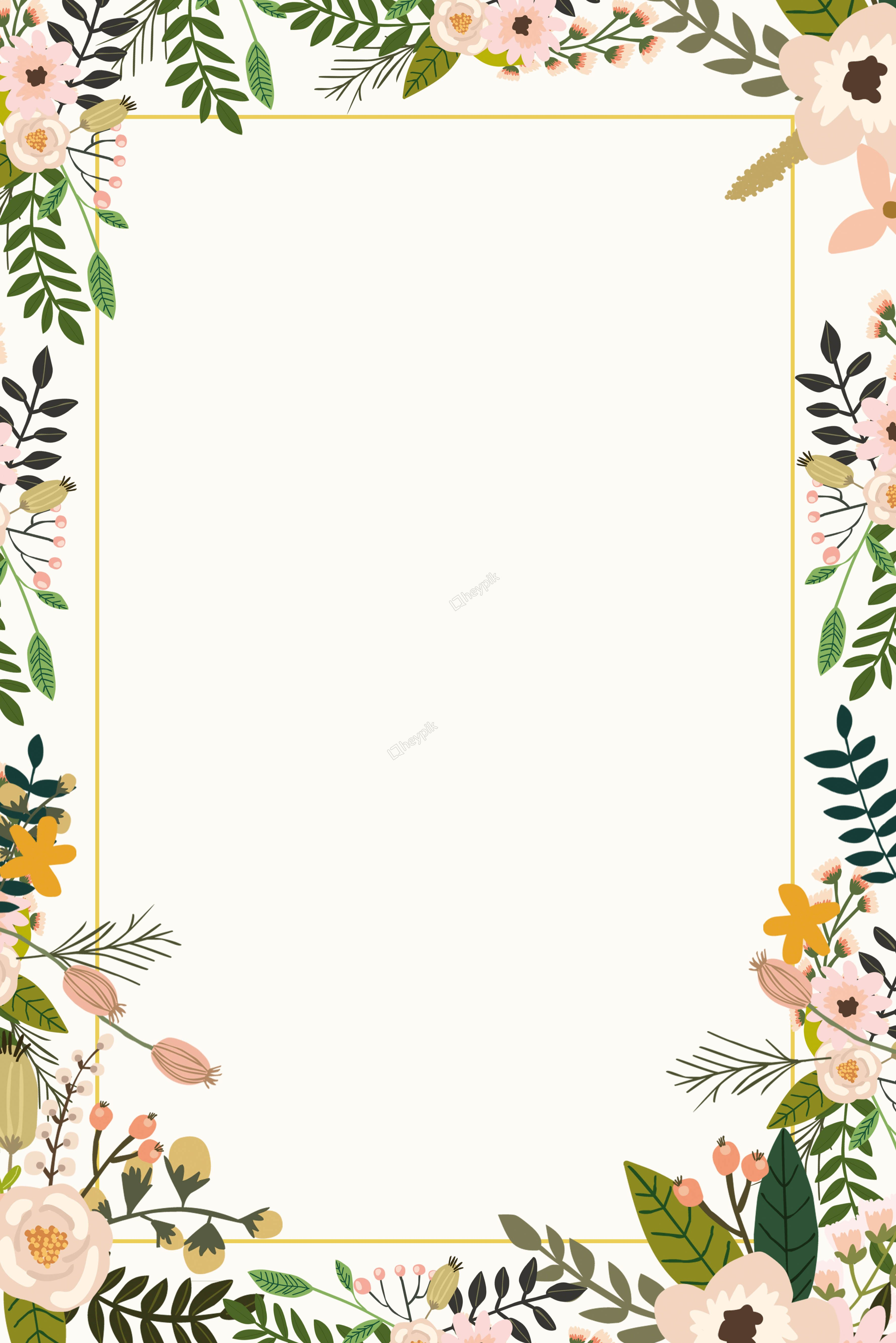 Color plant flower border background poster heypik di 2019 3545x5315
