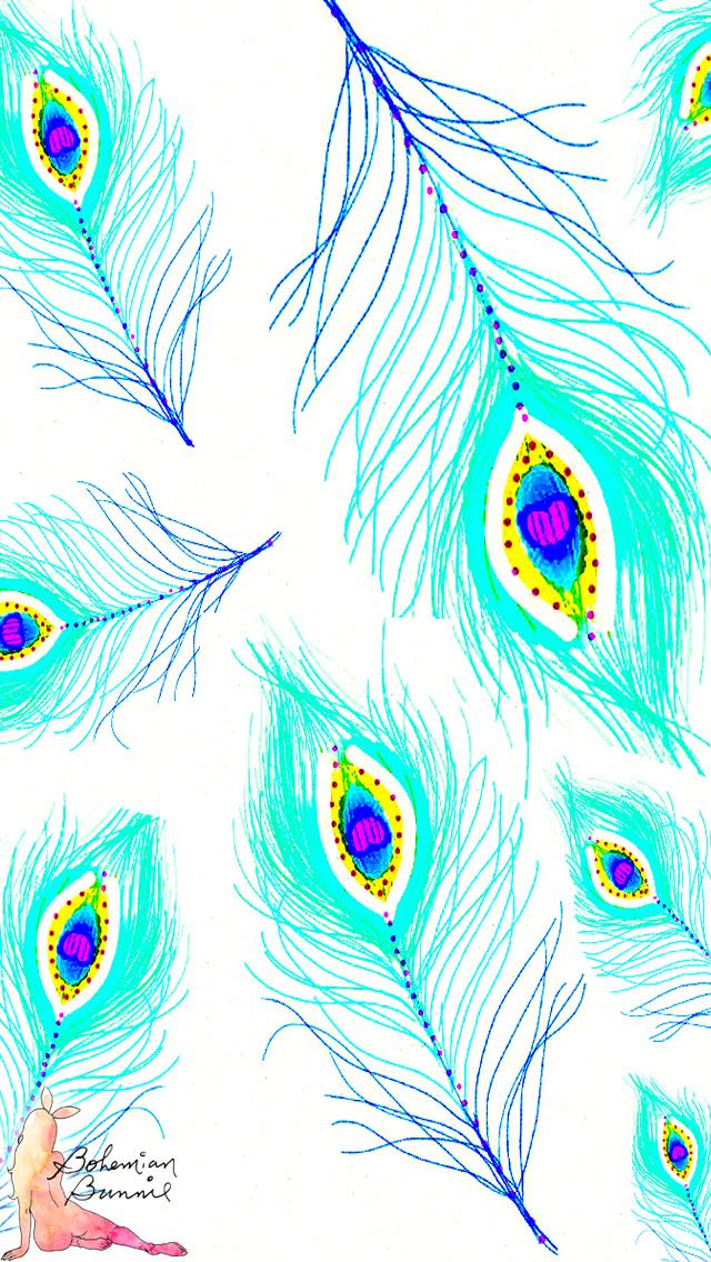 Freebie Fridays Downloadable Designs Bohemian Bunnie 640x1136