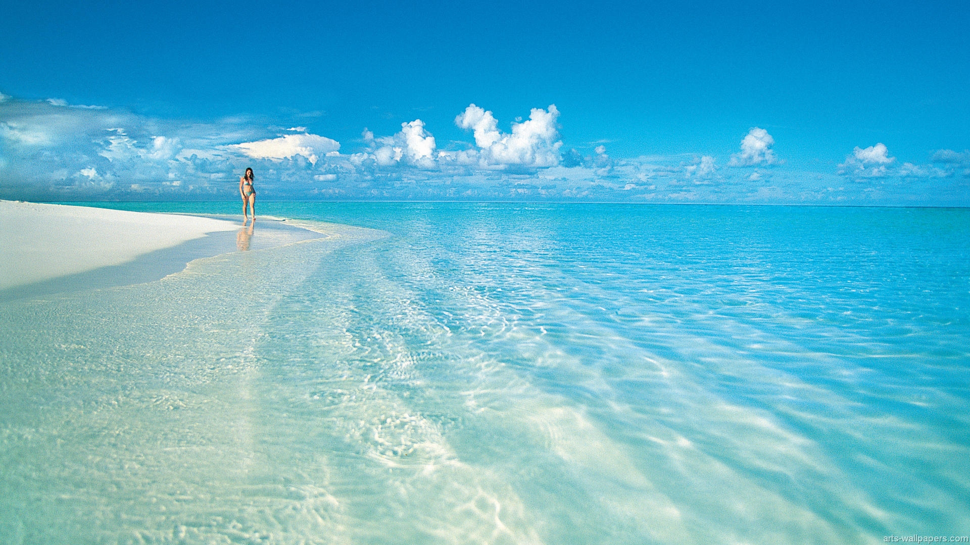 Custom 3d Photo Wallpaper Hd Maldives Sea Beach Natural: Tahiti Beach Wallpaper