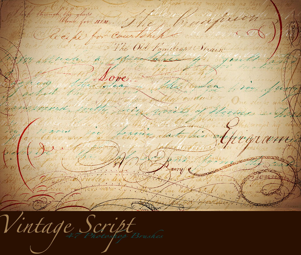 wallpaper with script writing